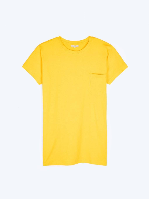 Dlouhé jednoduché tričko s náprsní kapsou