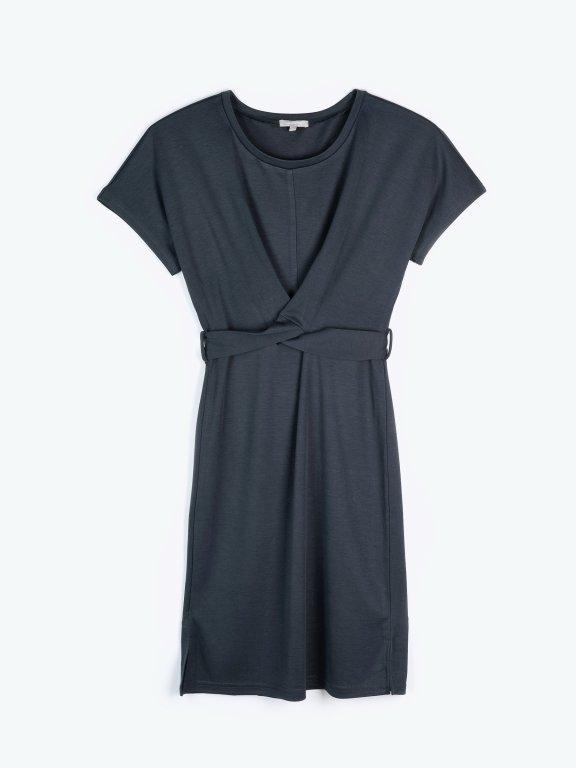 Sukienka midi z węzłem