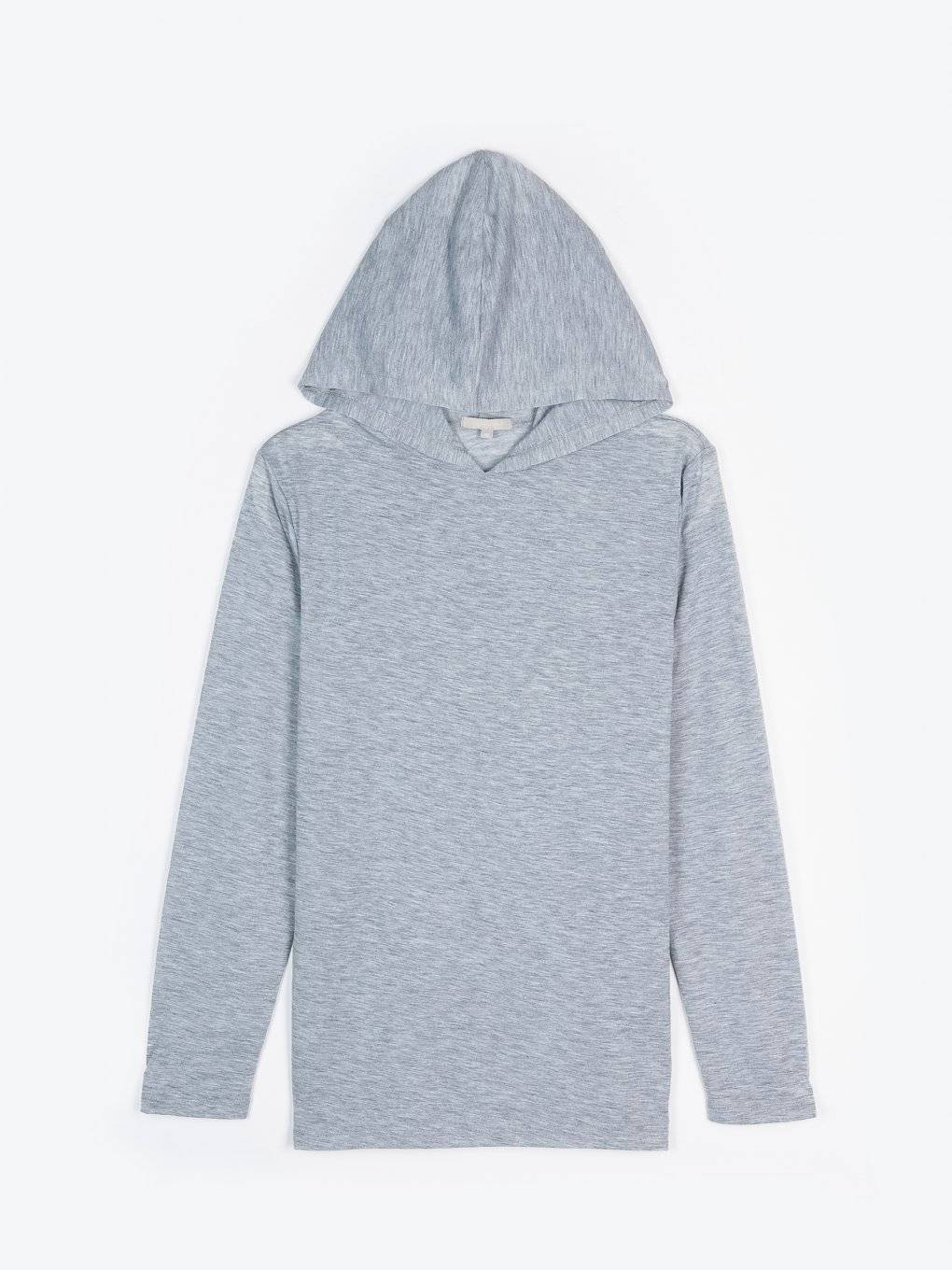 Top with hoodie