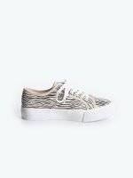 Lace-up sneakers with print
