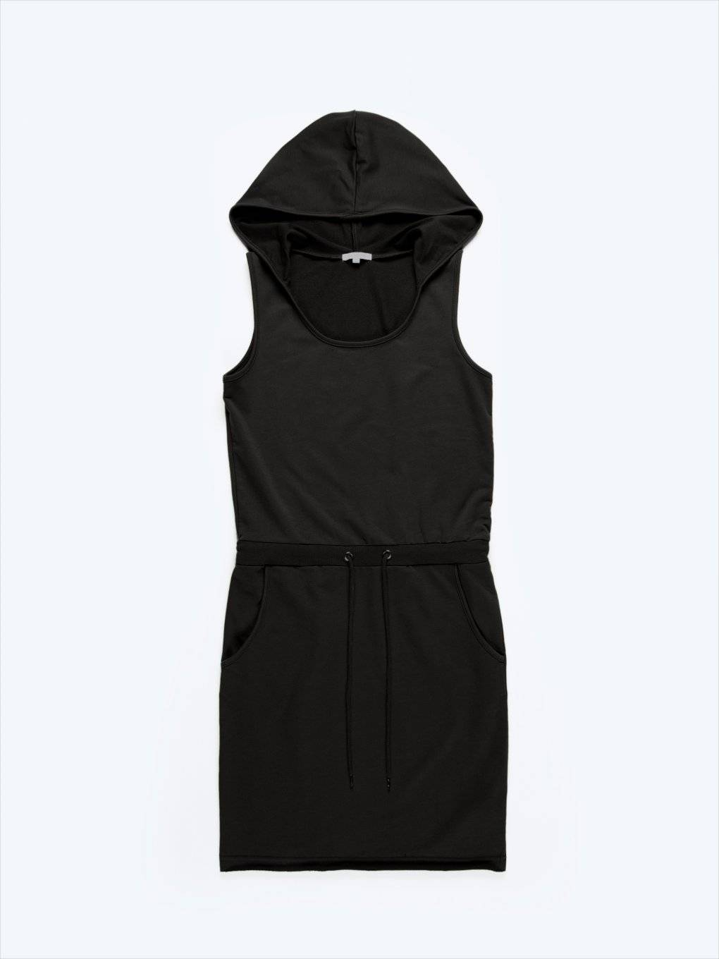 Plain dress with hood