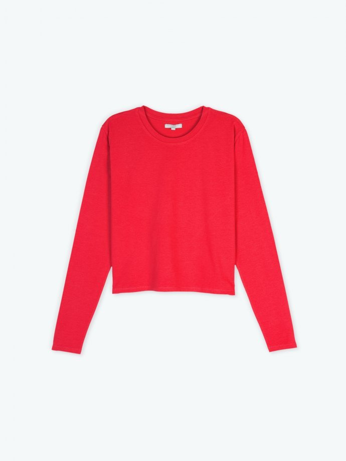 Loose fit long sleeve basic t-shirt