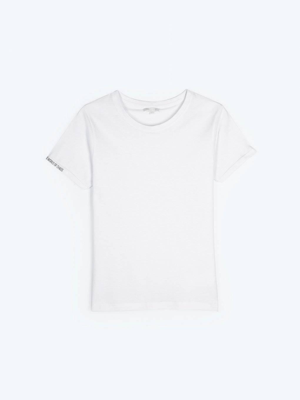 Tričko s potlačou na rukáve