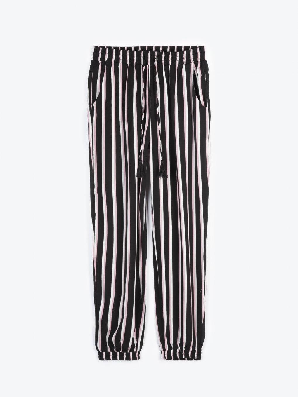 Striped harem trousers