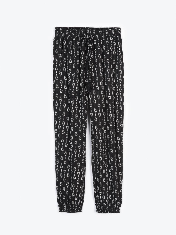 Spodnie haremki z nadrukiem