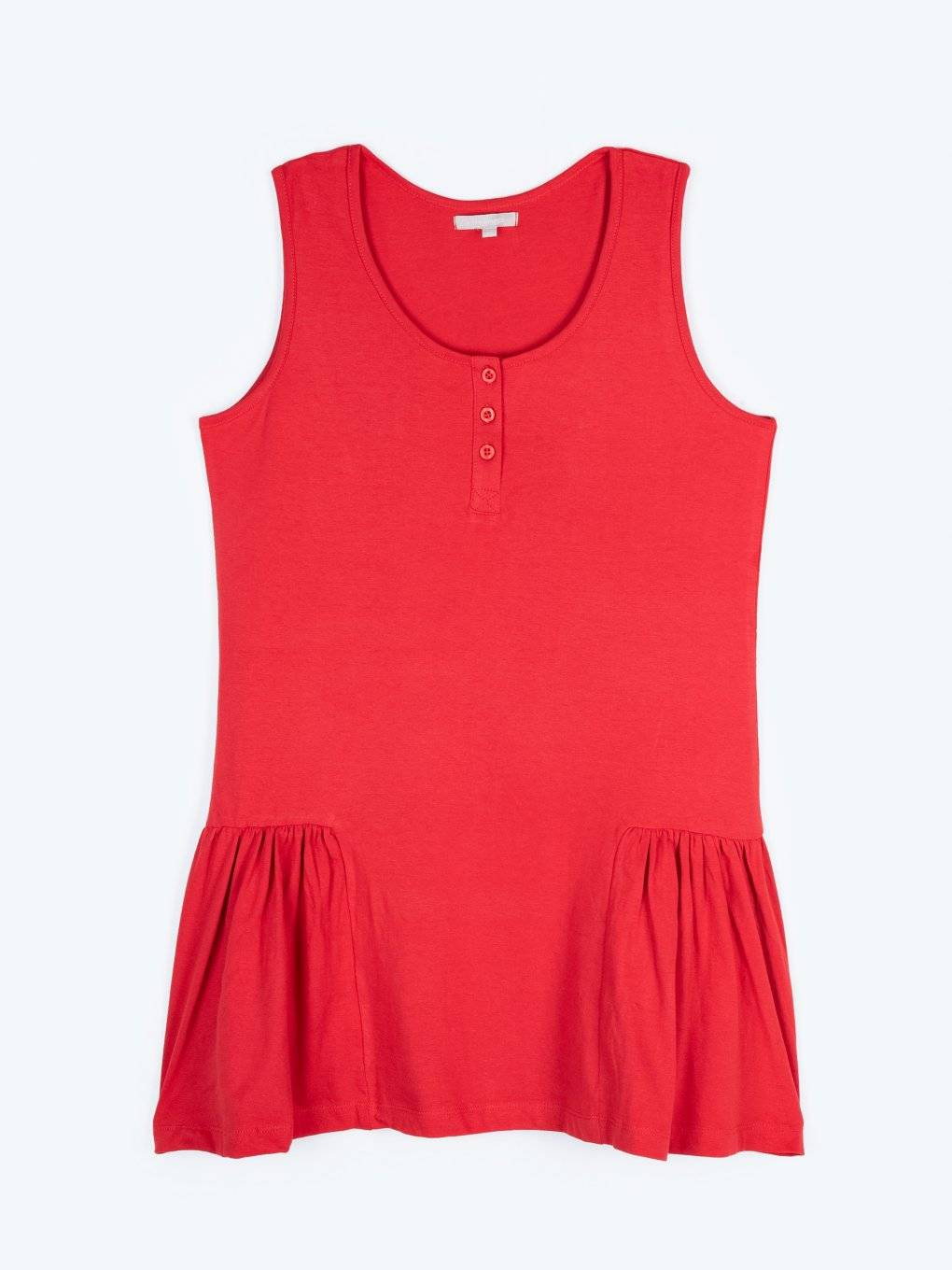 Longline tank top with buttons