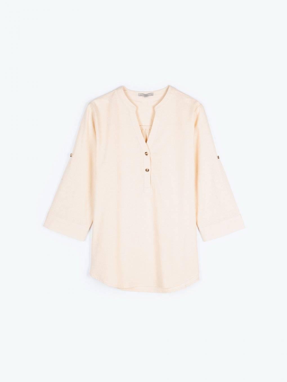Basic bluzka z mieszanki lnu