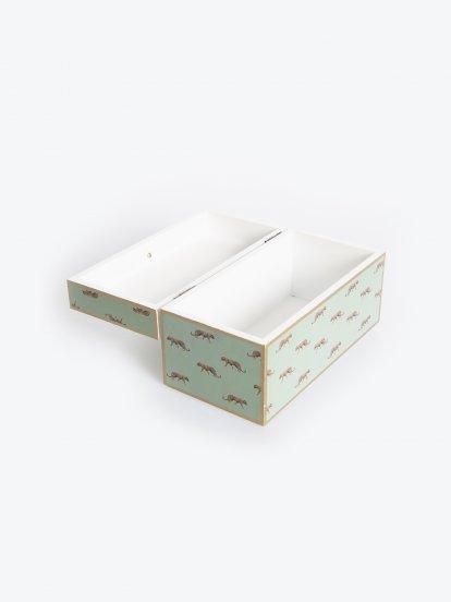 Drevená úložná škatuľka