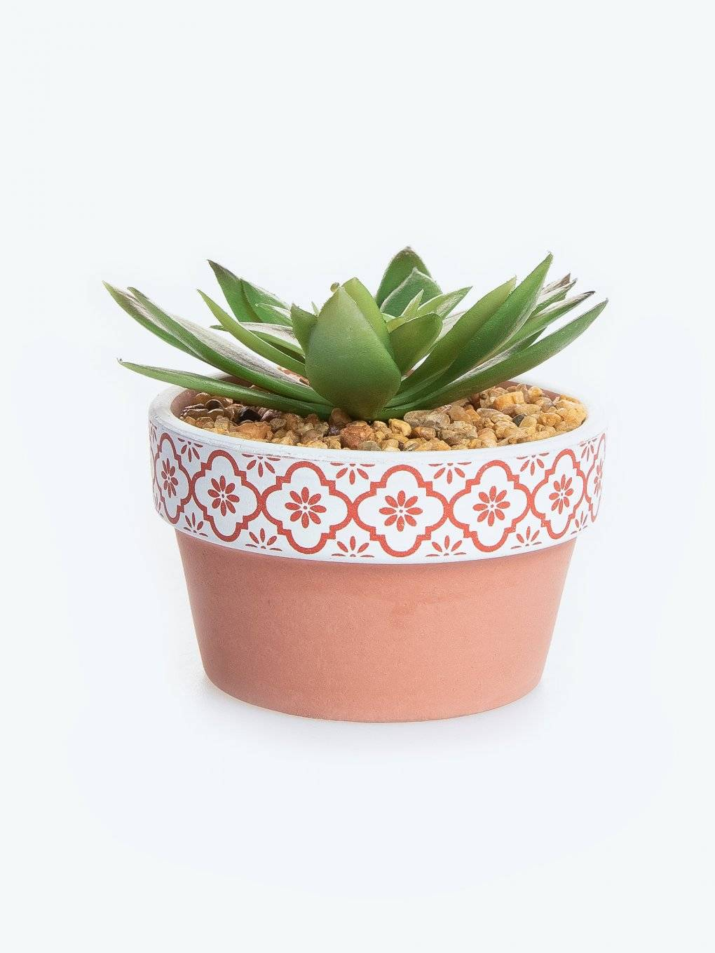Flower pot with faux flower