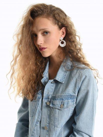 Plastic earrings
