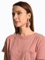 Drop earrings with tassels