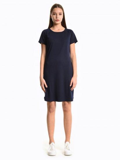 Tričkové šaty so zipsami
