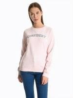 Sweatshirt with metallic message print