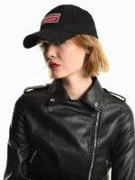 Baseball cap with patch detail