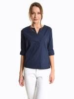 Loose fit cotton blouse