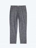 Straight fit cotton trousers