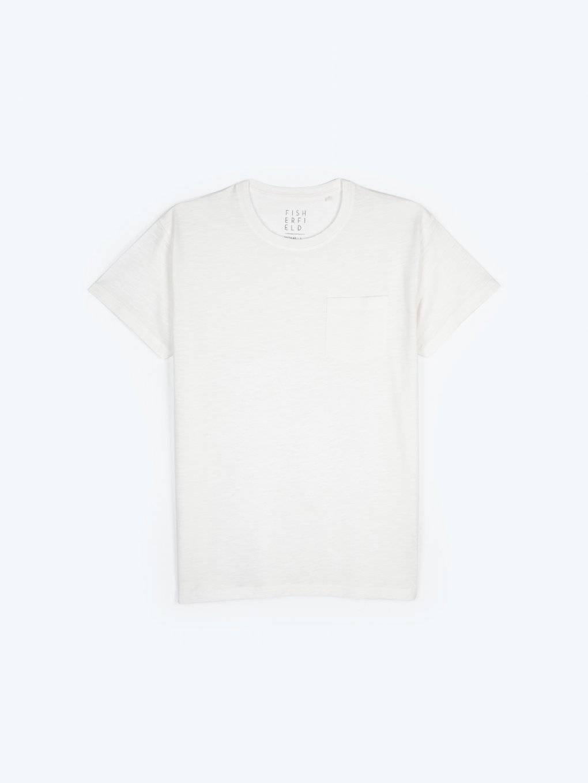 Melanżowa koszulka z kieszenią na piersi
