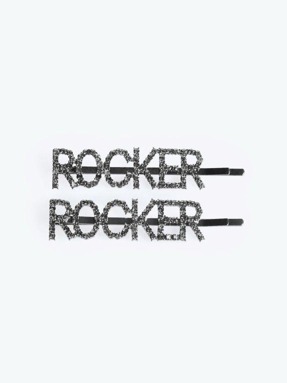 """2-pack hairgrips """"ROCKER"""""""