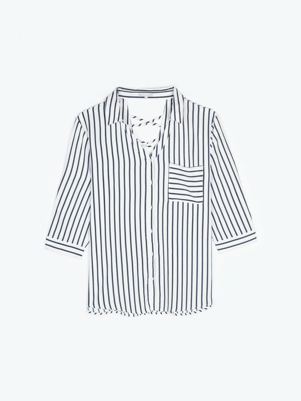 Oversized striped blouse