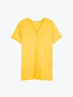 Oversize viscose top with buttons