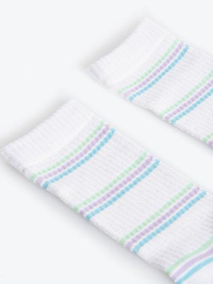 Ribbed crew socks