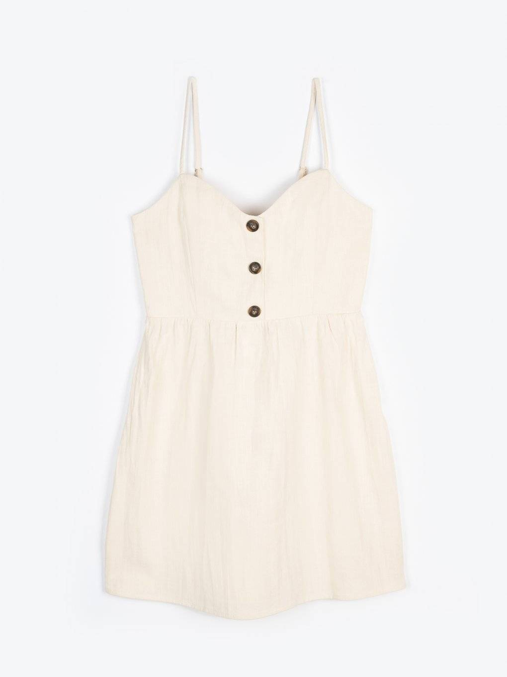 Cotton dress with buttons