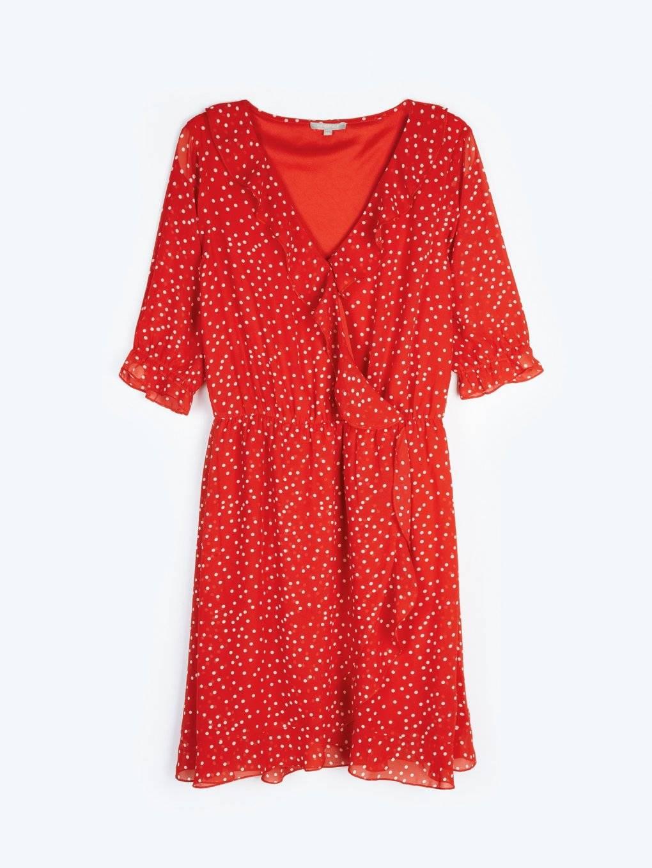 Polka dot chiffon dress