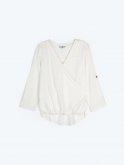 Loose fit wrap blouse