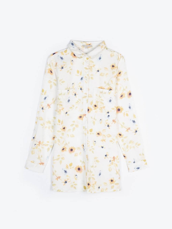 Bluzka z wiskozy z nadrukiem kwiatowym
