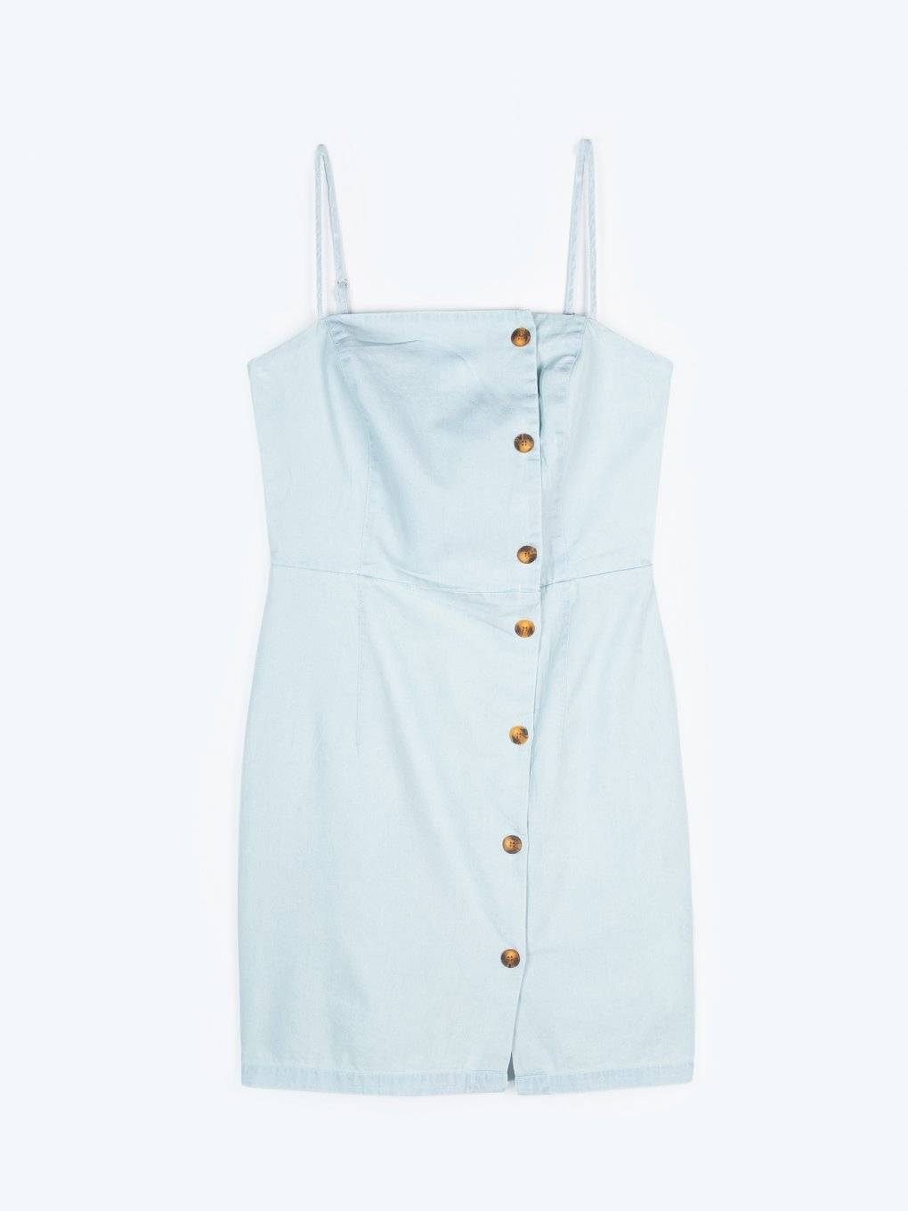 Cotton button down dress with pockets