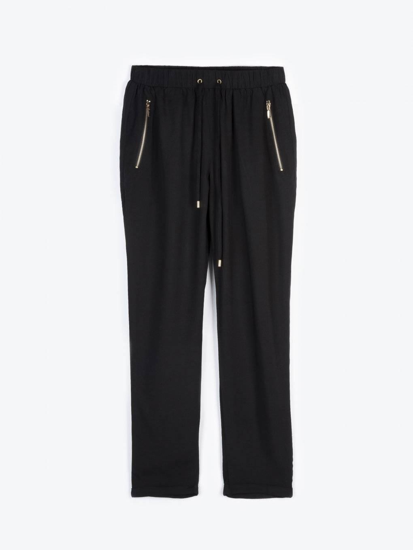 Spodnie z drapowanym pasem