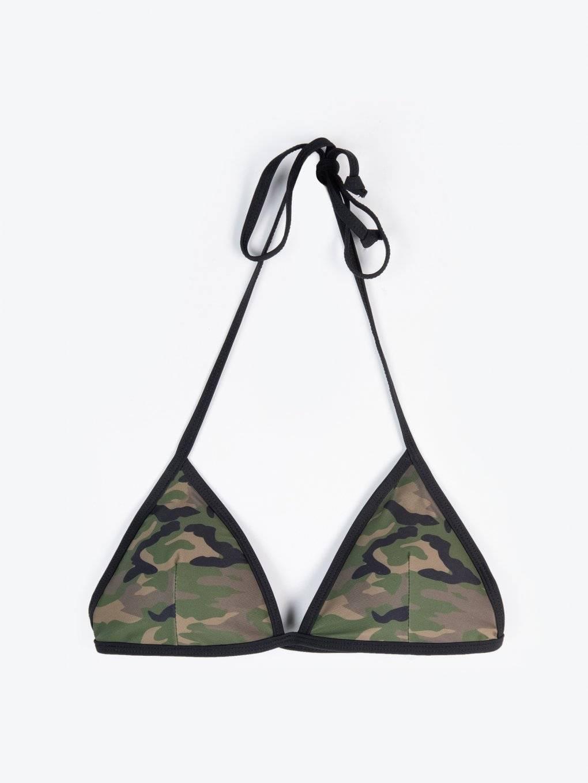 Camo print bikini top
