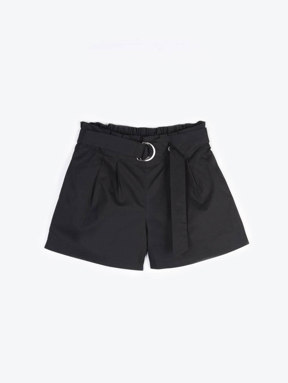 High waist shorts with belt