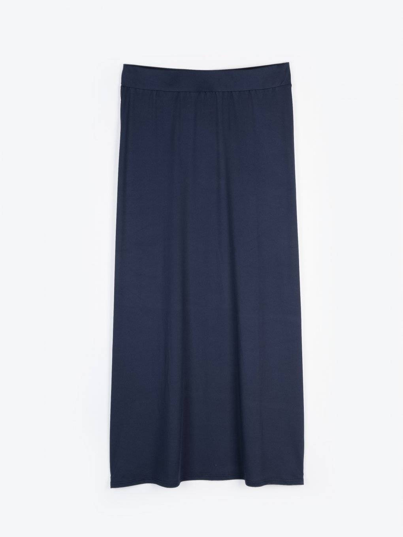 Jednofarebná dlhá sukňa