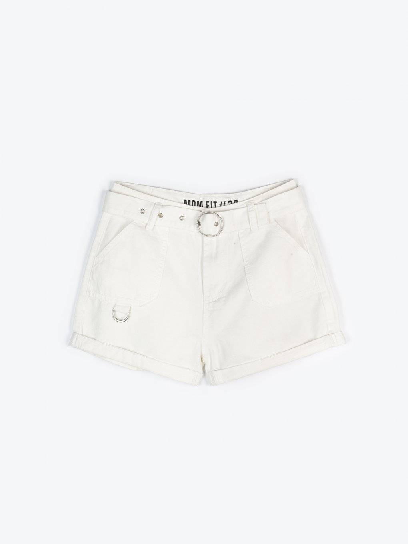 High waist shorts with decorative belt
