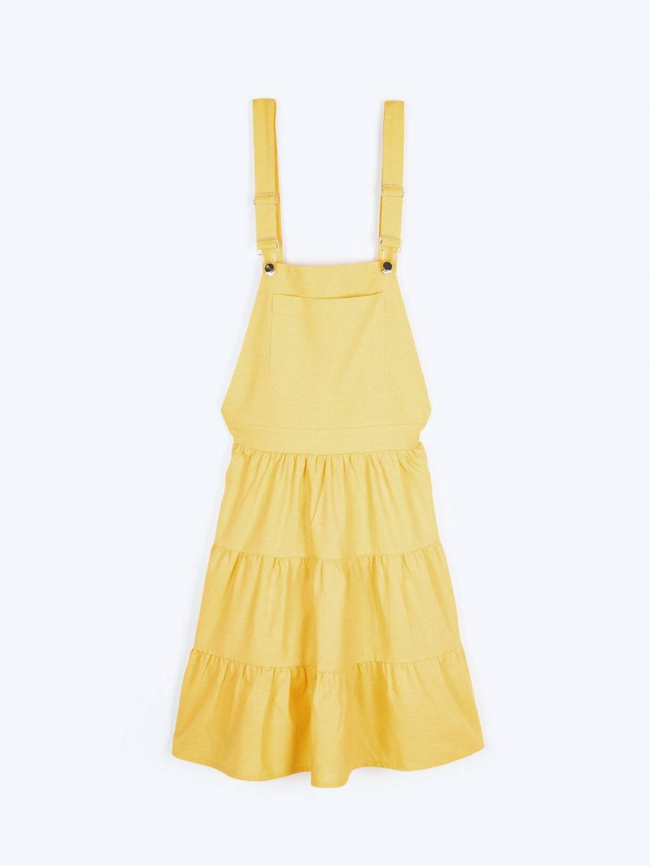 A-line dungaree skirt