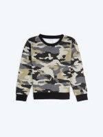 Camo print sweatshirt