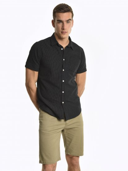 Pindot reguler fit shirt