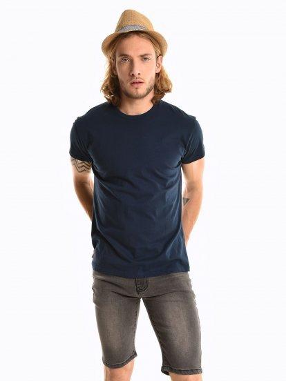 Basic koszulka regular fit z krótkim rękawem