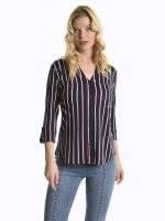 Knit striped blouse