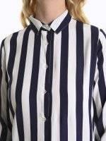 Longline striped shirt