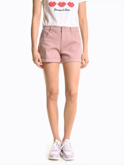 Plain stretch shorts