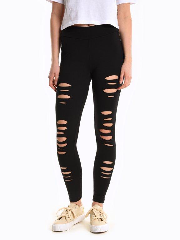 Distressed leggings