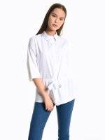 Loose fit belted blouse