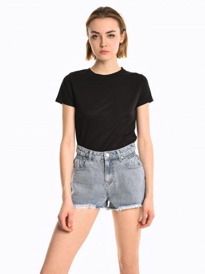 Basic viscose t-shirt