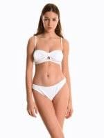 Majtki bikini w strukturalny wzór - dół