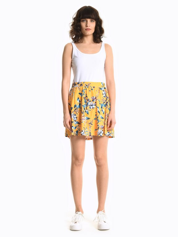 Mini sukňa s kvetinovou potlačou