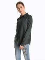 Basic regular fit viscose blouse