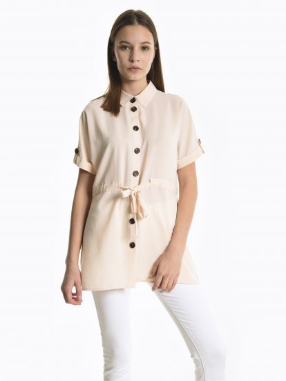 Blouse with belt