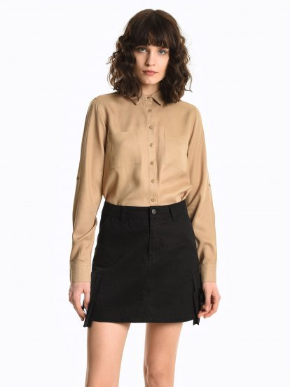 Basic bluzka z wiskozy